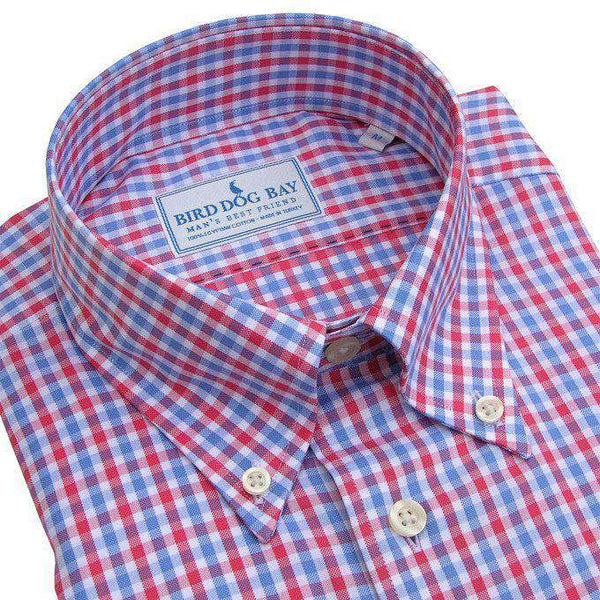 The Chamberlain Button Down in Red, White and Blue by Bird Dog Bay