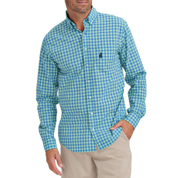 Men's Button Downs - The Gulliver Button-Down In Blue By Johnnie-O