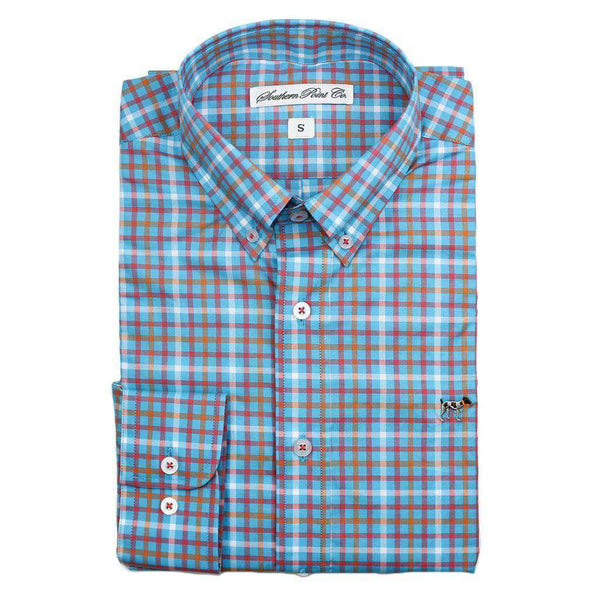 Men's Button Downs - The Hadley Shirt In Blue Water Plaid By Southern Point Co. - FINAL SALE