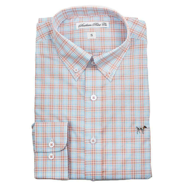 Men's Button Downs - The Hadley Shirt In Salterpath Blue Plaid By Southern Point Co.