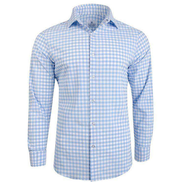 "Men's Button Downs - The ""Hampton"" Button Down In Light Blue Large Gingham By Mizzen + Main"