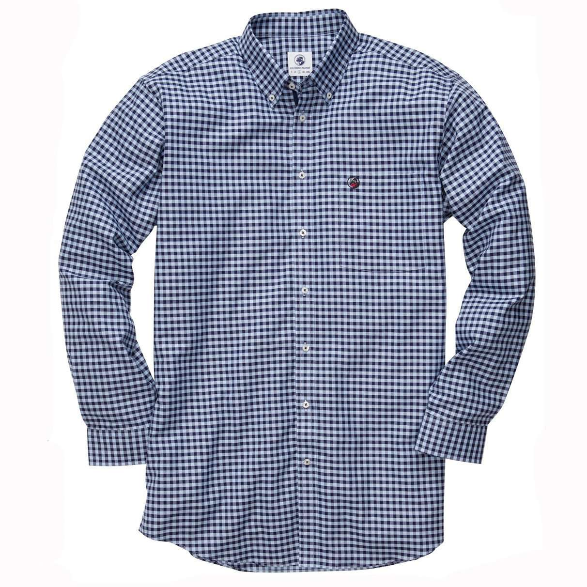 Men's Button Downs - The Navy Check Southern Shirt By Southern Proper