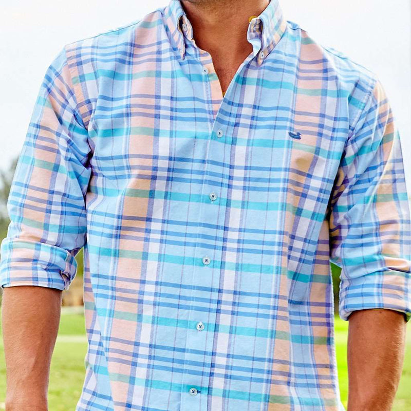 The Oakmont Oxford in Navy and Teal by Southern Marsh