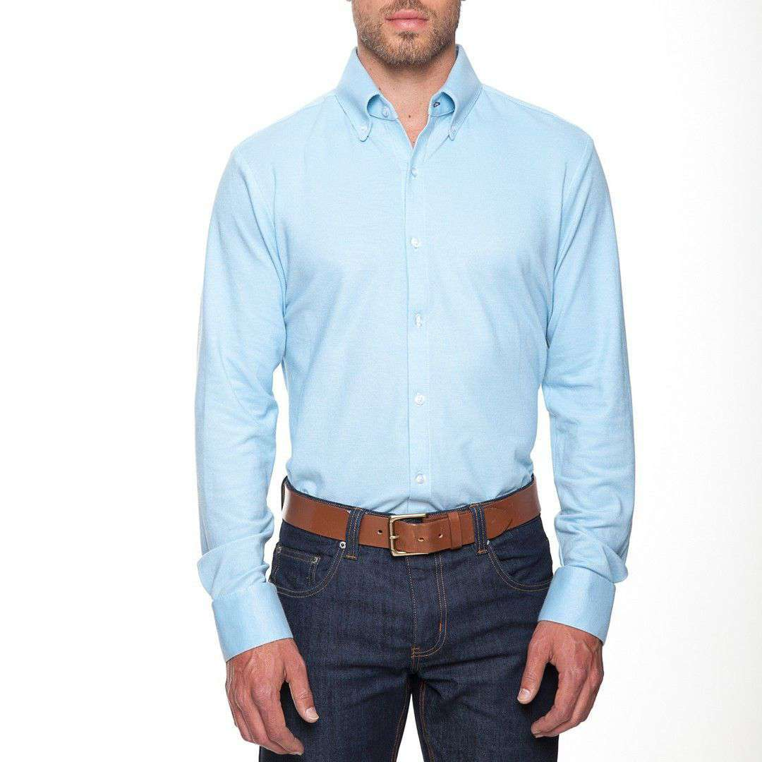 Mizzen And Main The Oxford Dress Shirt In Light Blue Country Club Prep