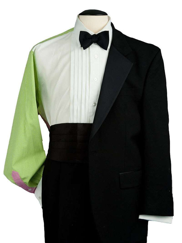 The Palm Beach Multi-Panel Tux Shirt in Pink and Green by ThRedHeads - Country Club Prep