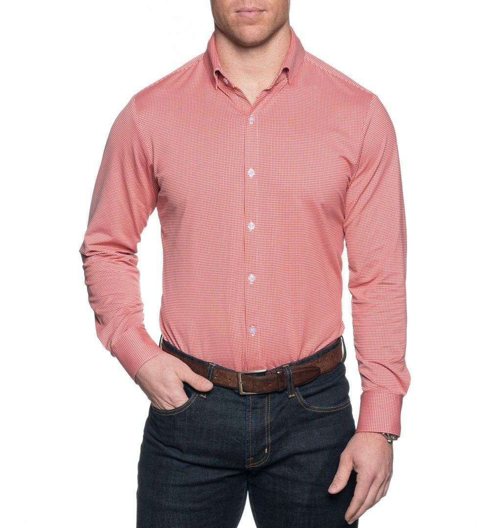 Mizzen And Main The Spread Collar Gingham Dress Shirt In Hawthorne