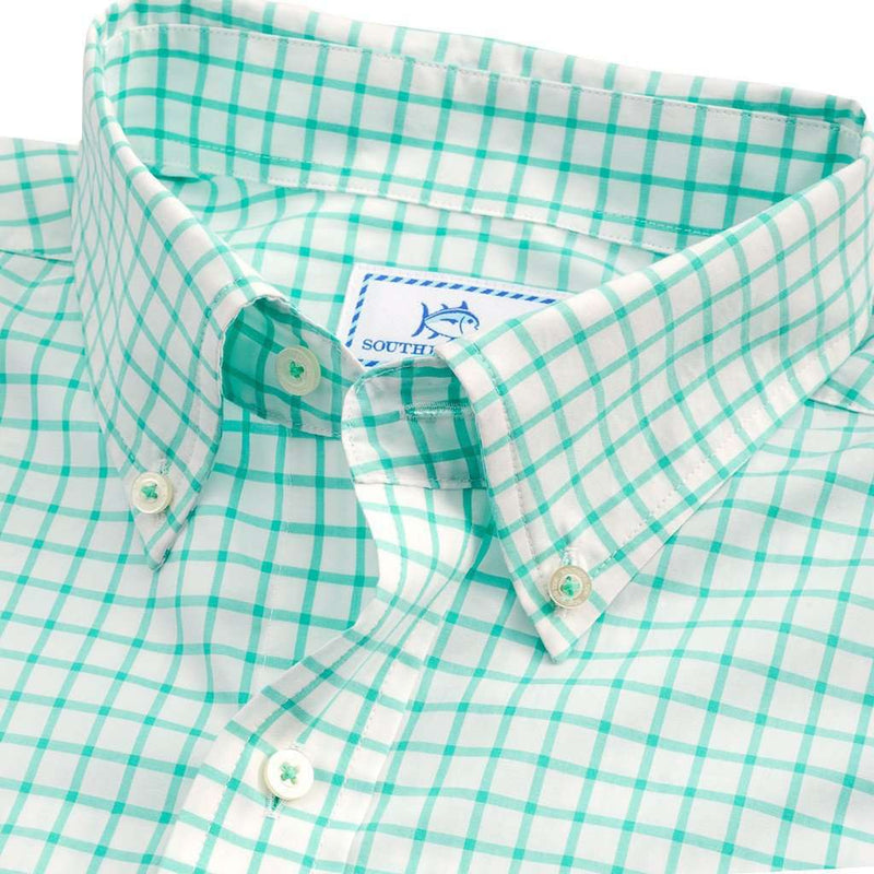 Tradewind Tattersall Sport Shirt in Offshore Green by Southern Tide - FINAL SALE