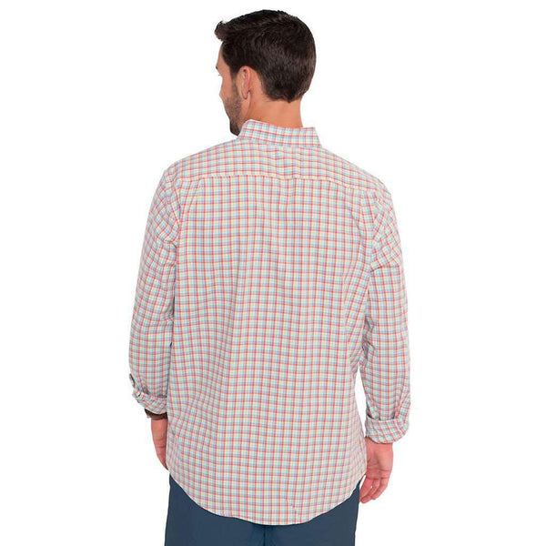 Tucker Plaid Button Down in Channel Marker by The Southern Shirt Co. - FINAL SALE