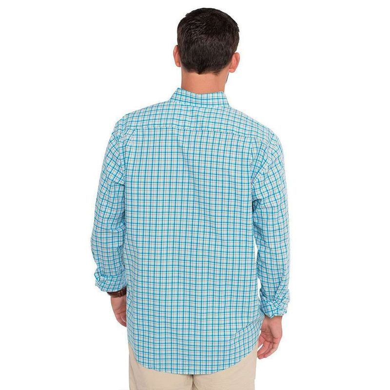 Tucker Plaid Button Down in Sailfish by The Southern Shirt Co. - FINAL SALE