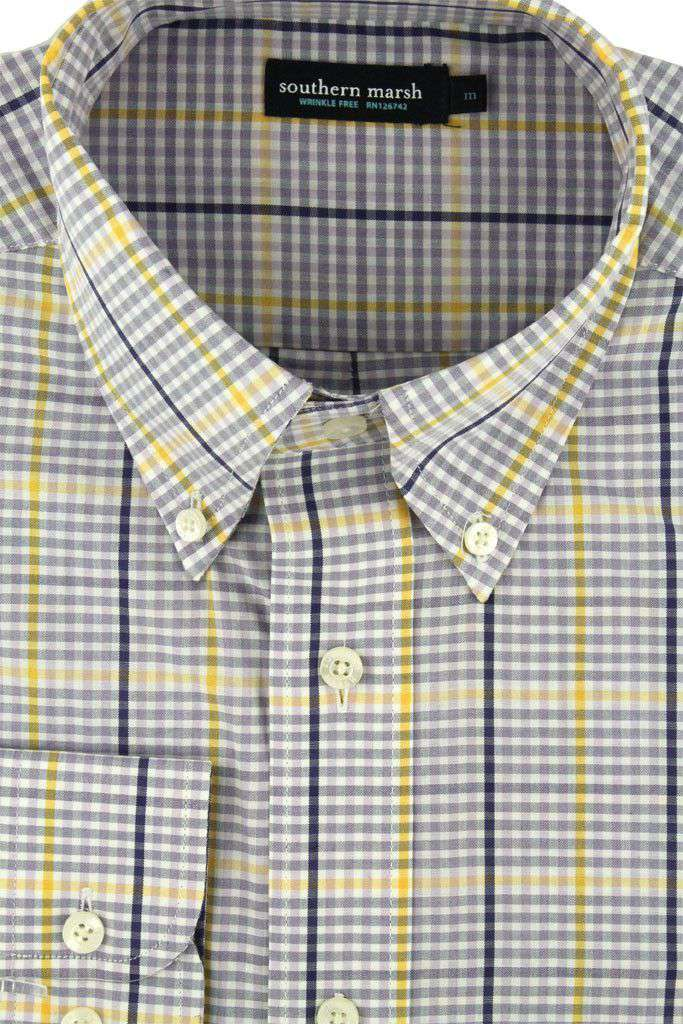 Upperline Grid in Purple and Yellow by Southern Marsh - FINAL SALE