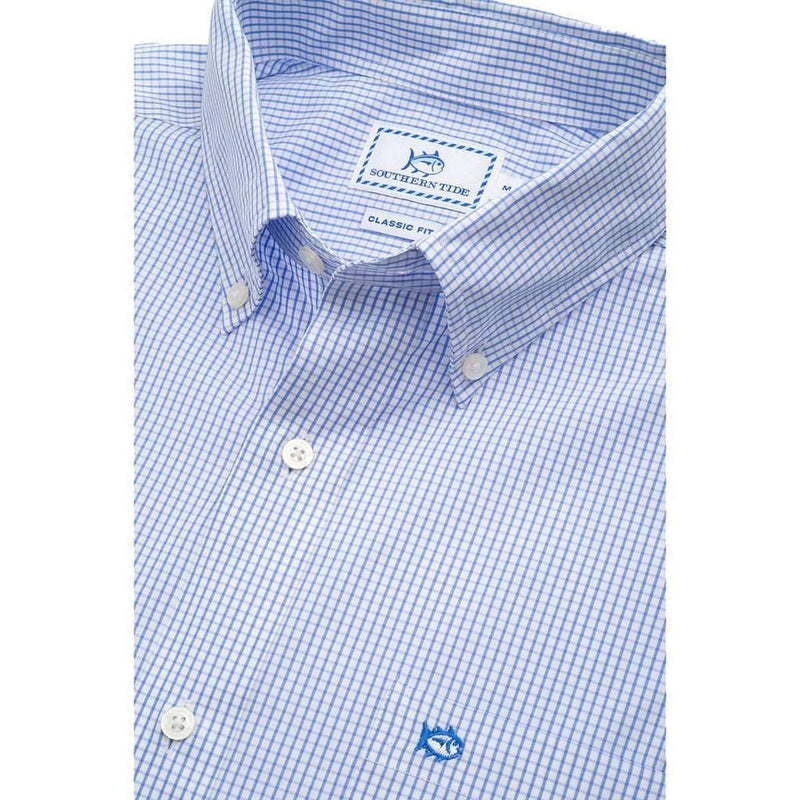 Watermark Tattersall Sport Shirt in Sail Blue by Southern Tide