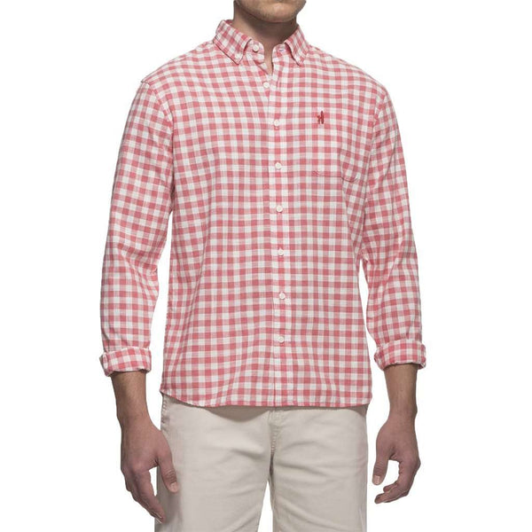 Men's Button Downs - Watts Hangin' Out Button Down Shirt In Calyspo By Johnnie-O