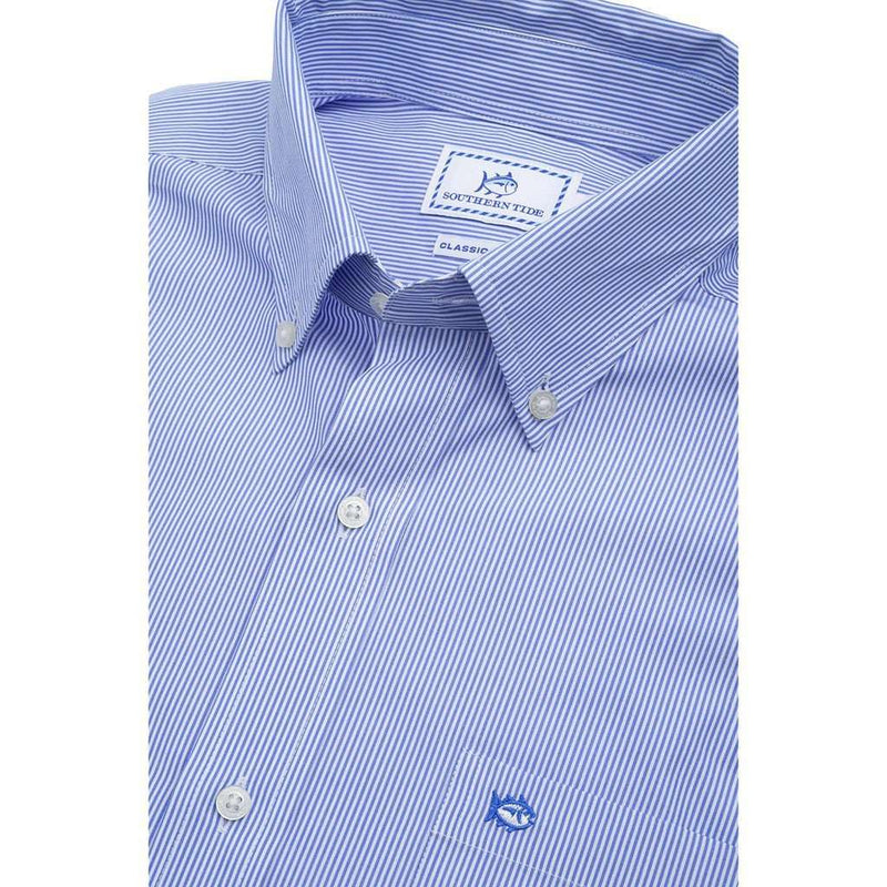 Wedgewood Stripe Sport Shirt in Sail Blue by Southern Tide