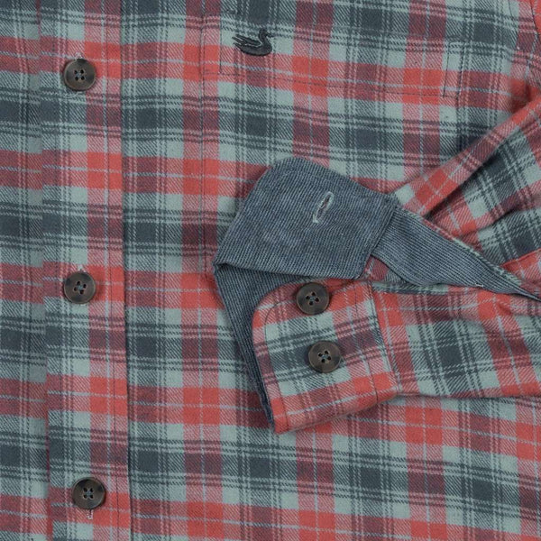 Wilson Flannel Shirt in Slate and Sage by Southern Marsh - FINAL SALE