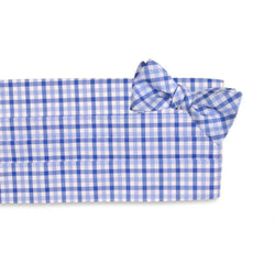 Men's Cummerbunds & Braces - Blake Check Cummerbund Set By High Cotton