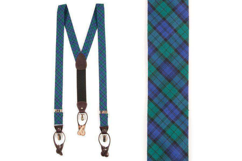 Men's Cummerbunds & Braces - Campbell Tartan Braces By High Cotton