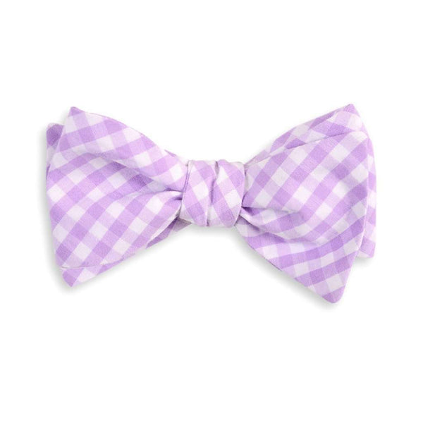 Men's Cummerbunds & Braces - Lavender Check Cummerbund Set By High Cotton