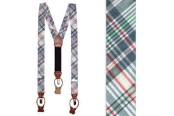 Men's Cummerbunds & Braces - Mayberry Madras Suspenders/ Braces By High Cotton