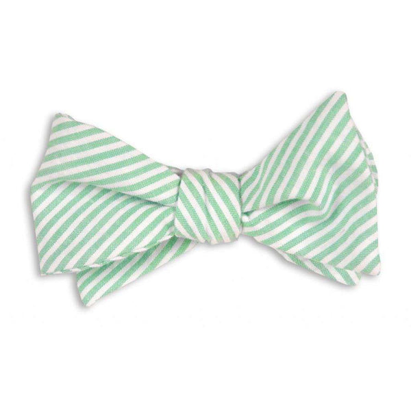 Men's Cummerbunds & Braces - Mint Green Seersucker Stripe Cummerbund Set By High Cotton