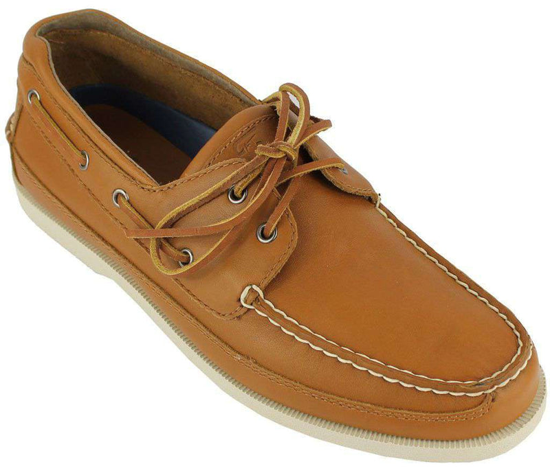 Men's Footwear - Alpha Epsilon Pi Yachtsman Boat Shoes In Mahogany By Category 5
