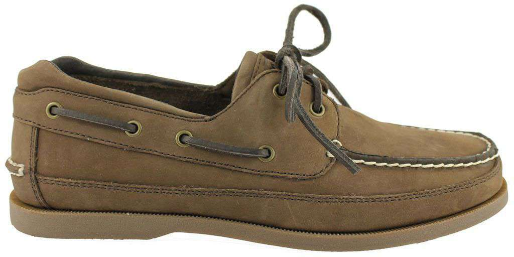 Men's Footwear - Alpha Gamma Rho Yachtsman Boat Shoes In Walnut By Category 5