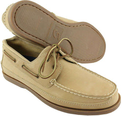 Men's Footwear - Alpha Tau Omega Yachtsman Boat Shoes In Oak By Category 5