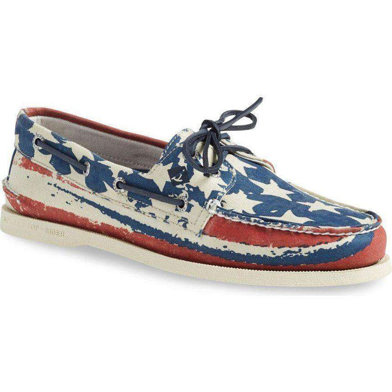 Men's Footwear - Authentic Original Stars And Stripes Boat Shoe By Sperry