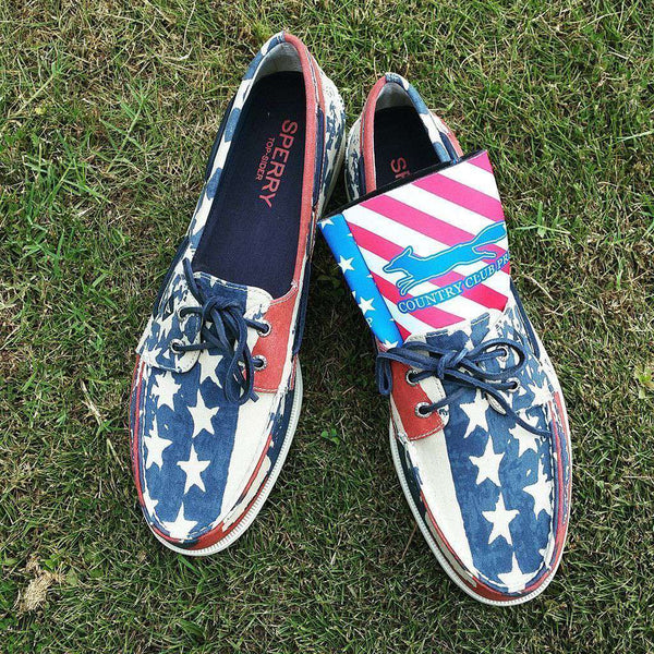 Men's Authentic Original Stars and Stripes Boat Shoe by Sperry
