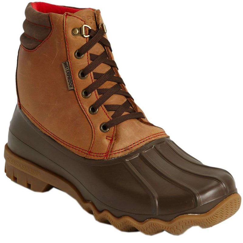 Men's Footwear - Avenue Duck Boot In Dark Tan And Brown By Sperry