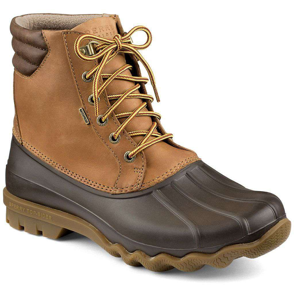 Sperry Avenue Duck Boot in Tan and Brown