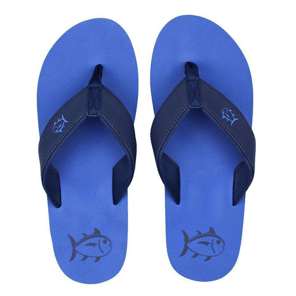 Men's Footwear - Beachside Flipjacks In Royal Blue By Southern Tide