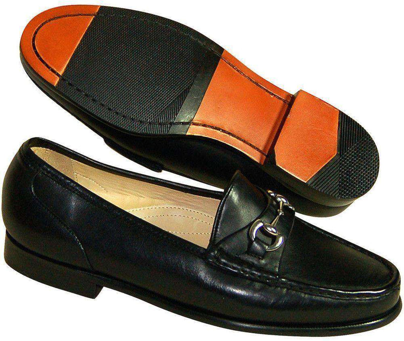 Men's Bit of Class Loafers in Black Calfskin by Country Club Prep
