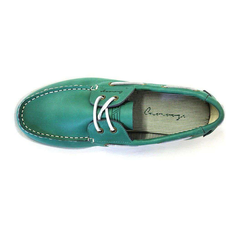 Boat Shoe Golf Shoe in Augusta Green by Canoos