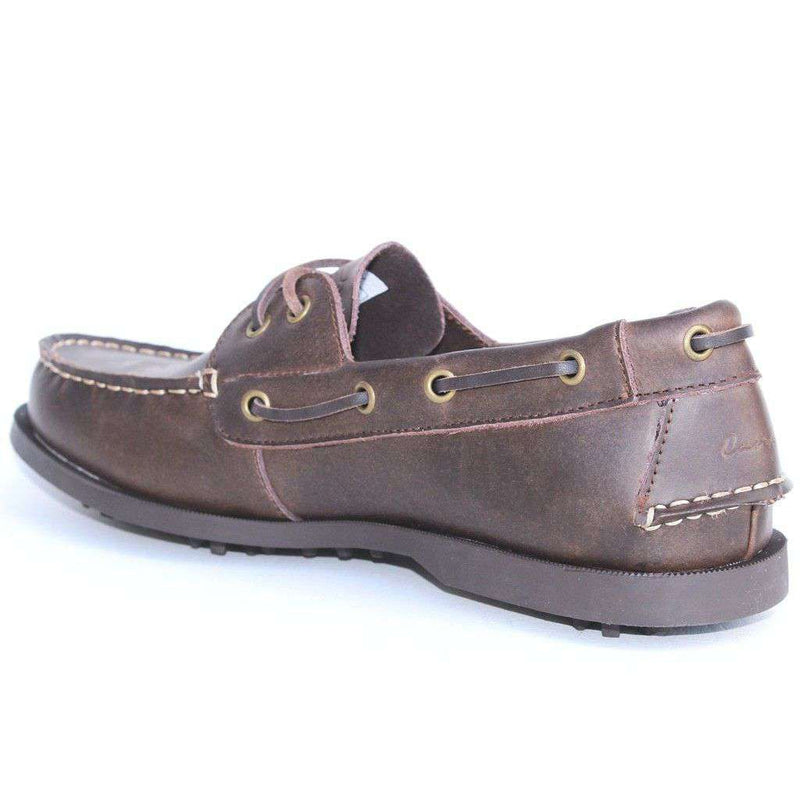 Boat Shoe Golf Shoe in Brown by Canoos