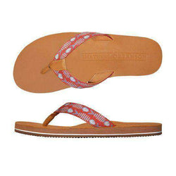 Men's Footwear - Bonefish Needlepoint Flip Flops In Melon By Smathers & Branson
