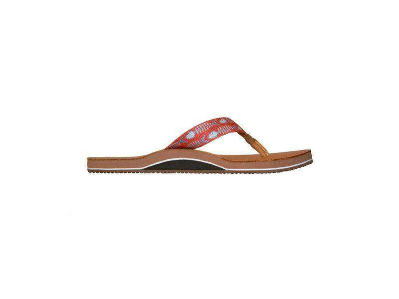 Men's Bonefish Needlepoint Flip Flops in Melon by Smathers & Branson
