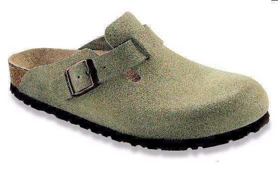 Men's Footwear - Boston Clog In Taupe Suede With Soft Footbed By Birkenstock