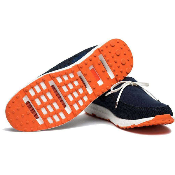 Men's Breeze Leap Laser Loafer in Navy, White, & Orange by SWIMS - FINAL SALE