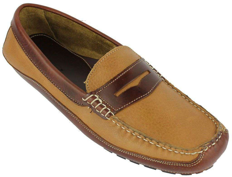Men's Footwear - Buddy Holly Driving Moccasins In Soft Tan By Country Club Prep