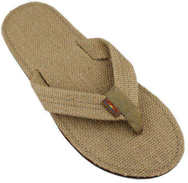Men's Burlap Single Layer Eco Sandal in Sierra Brown by Rainbow Sandals