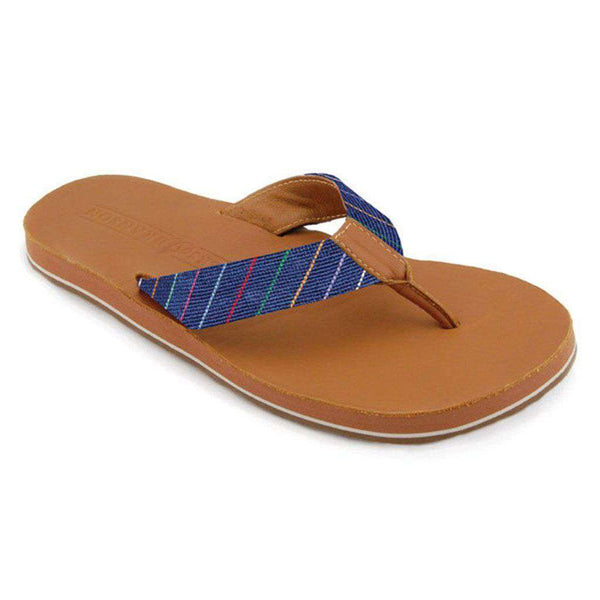 Men's Footwear - Carter Stripe Needlepoint Flip Flops By Smathers & Branson