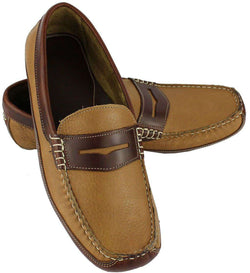 Men's Footwear - Coronado Driving Moccasins In Soft Tan By Country Club Prep