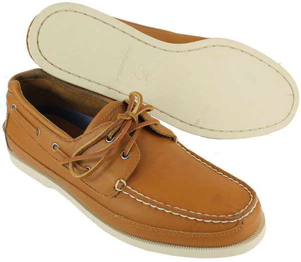 Men's Footwear - Delta Chi Yachtsman Boat Shoes In Mahogany By Category 5