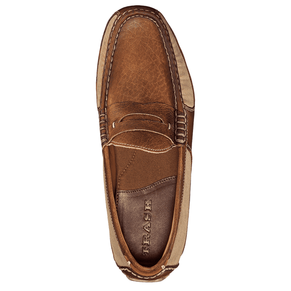 Men's Footwear - Derek Bison Loafer In Waxed Canvas By Trask