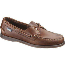 Men's Footwear - Docksides Boat Shoes In Brown Oiled Waxy With Smoke Sole By Sebago