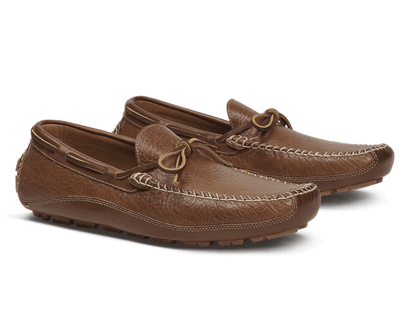 Men's Footwear - Drake Bison Loafer In Saddle Tan By Trask