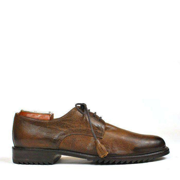 Men's Footwear - Edgar Plain Toe Blucher In Cedar Brown By Martin Dingman - FINAL SALE