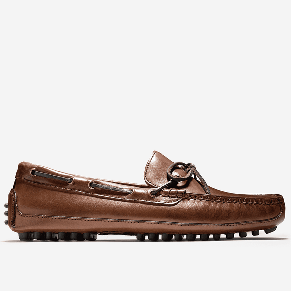 Men's Footwear - Grant Canoe Camp Driving Loafer In Papaya Brown By Cole Haan