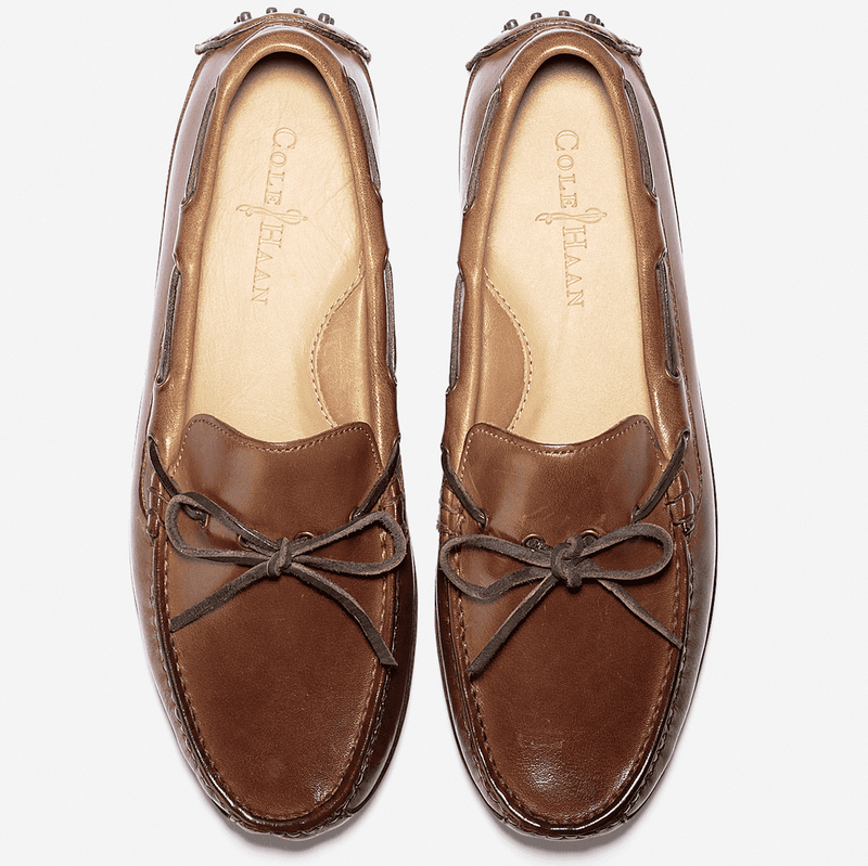 Men's Grant Canoe Camp Driving Loafer in Papaya Brown by Cole Haan