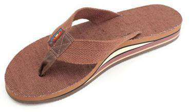 Men's Footwear - Hemp Top Double Layer Arch Sandal In Brown By Rainbow Sandals